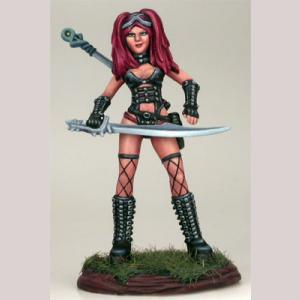 Female Goth Warrior with Sword