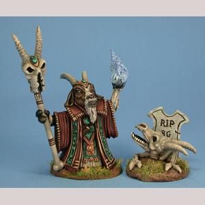 Goat Necromancer & Skeleton