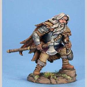 Male Dwarf Fighter with Wine Skin