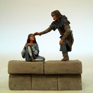 54mm Diorama Jon Snow and Arya Stark
