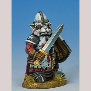 Raccoon Paladin with Sword/Shield