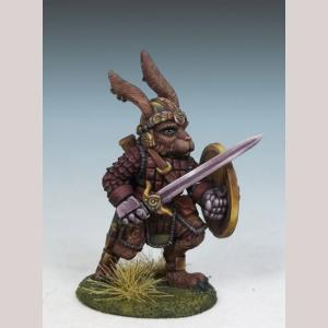 Rabbit Warrior with Long Sword and Shield
