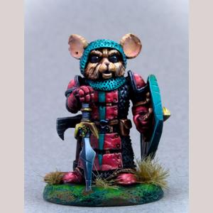 Mouse Warrior with Sword and Shield