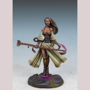 Zarese of the Silver Moon - Female Mage with Staff