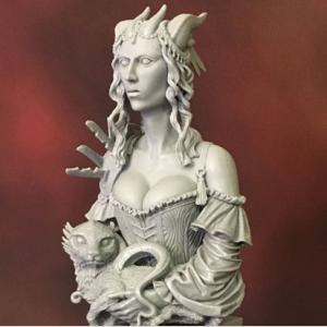 Portrait of a Young Tiefling - 1/10th Scale Resin Bust
