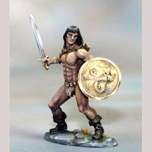 Male Barbarian with Sword and Shield