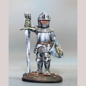 Halfling Paladin with Sword and Shield