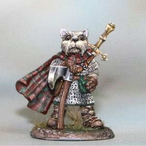 Westie Warrior with Axe