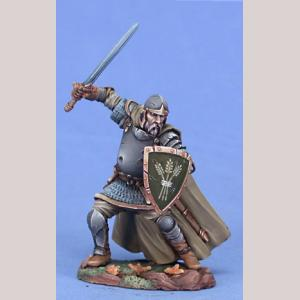 Veteran Hedge Knight with Long Sword and Shield